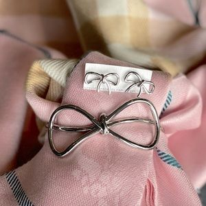 Banana Republic Silver Cuff and Earrings